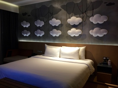 sleeping under clouds